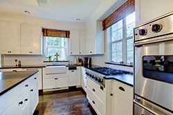 black granite white cabinets Granite kitchen - Alexandria Alexandria